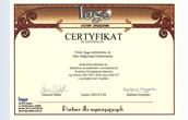 Certificato dell'Uditore interno del Sistema di Gestione della Qualità secondo la Norma ISO 9001:2000 e HACCP